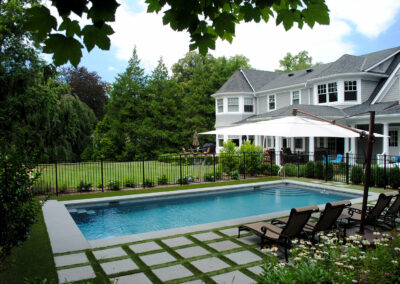 Luxury gunite pool with bluestone patio.