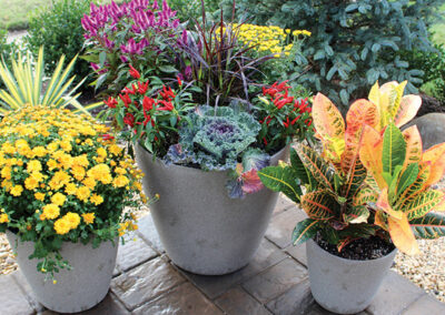 fall-planters-enteryway-pots -pavers-queens-new-york