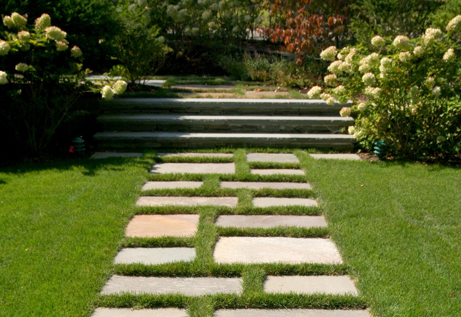 Modern garden path.