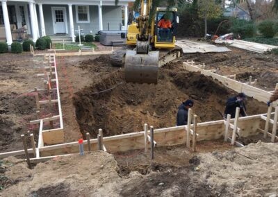 Landscape Design Pool Excavation Huntington Bay New York