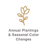 Gold Plantings Flower Icon