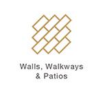 Landscape Design Gold Wall Icon