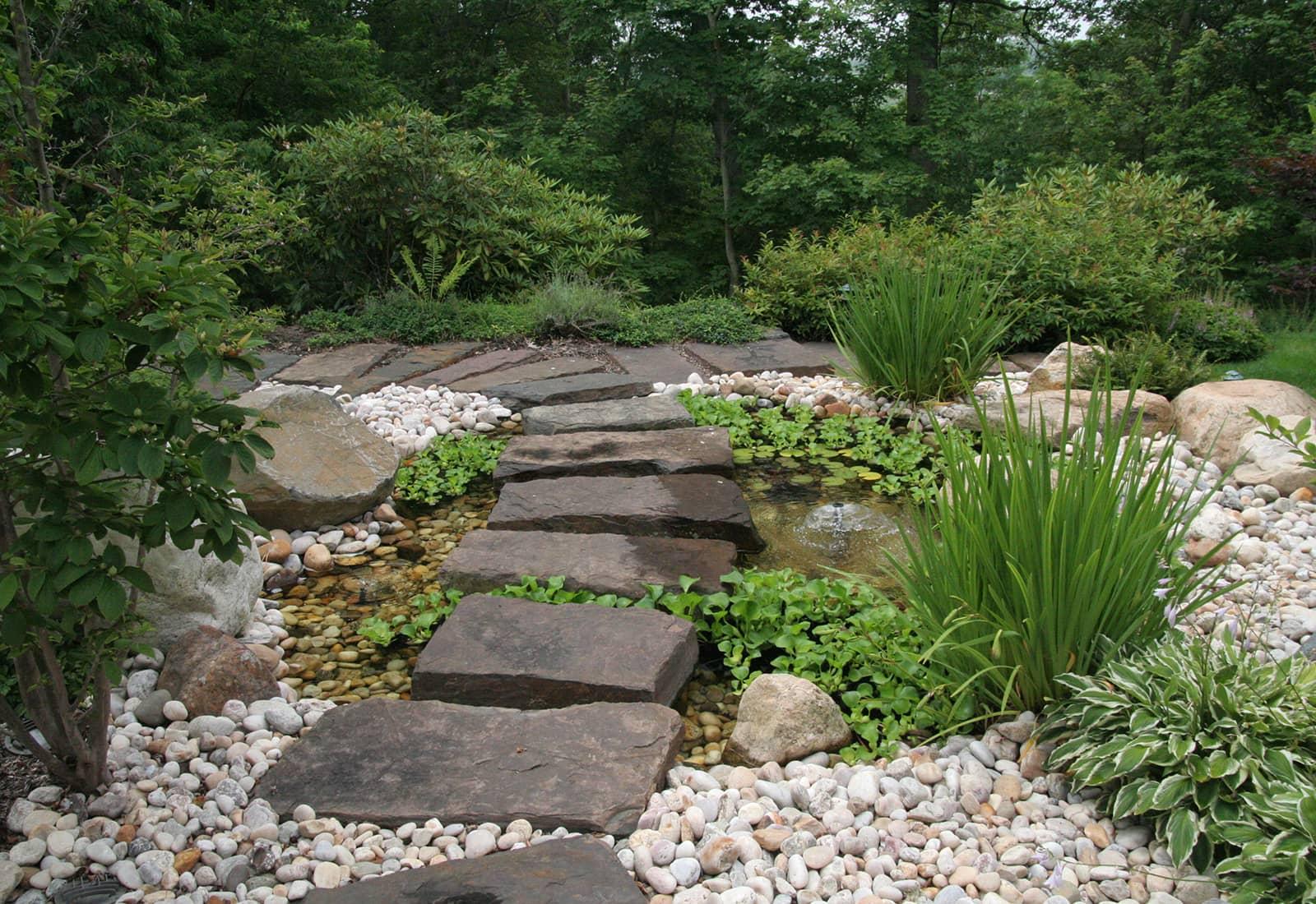 Stepping Stone Fountain Path