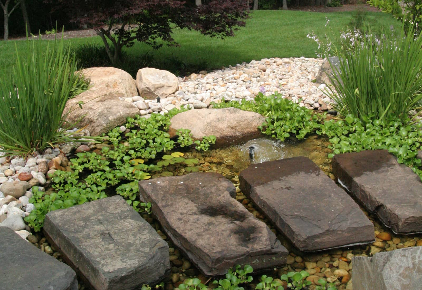 Water Feature with Stone